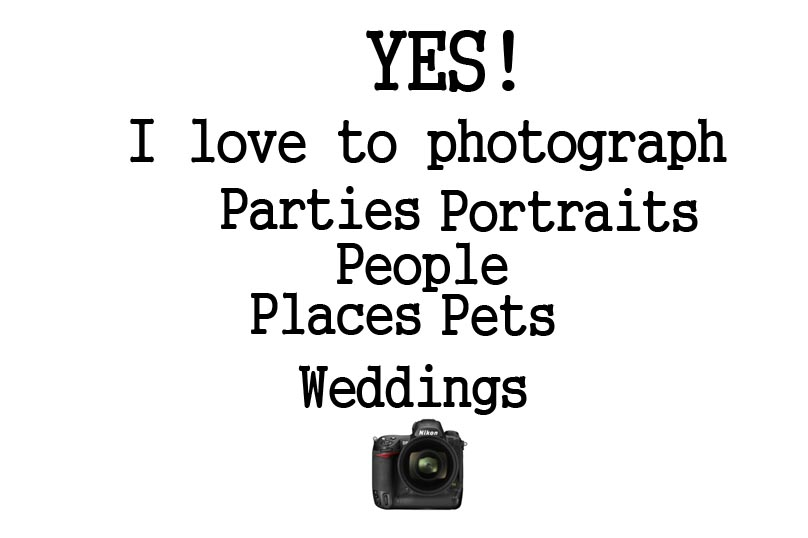 Let Me Take Your Photograph!